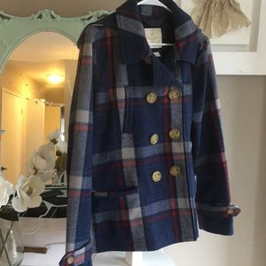 American eagle hooded pea coat XL